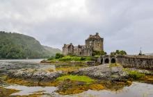 Ile de Skye, château de Highlander et le Ben Tiannavaig